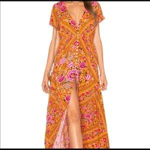 Spell & The Gypsy Babushka Maxi Dress Amber Medium